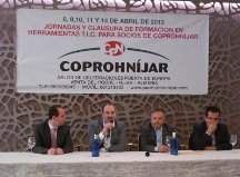 José Manuel Ortiz felicita a Coprohníjar por su apuesta por las tecnologías de la información