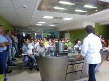 Más de 75 cocineros almerienses asisten a la presentación  del producto Agua de Mar en la cocina experimental CT Tecnova
