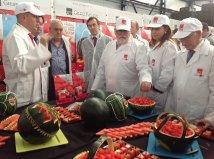 El Ministro de Agricultura, Miguel Arias Cañete, ha visitado las instalaciones de Agroponiente y ha conocido de primera mano los procesos de esta empresa y de Grupo Fashion