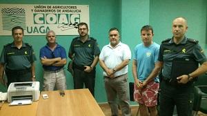 El Comité de COAG Níjar se reúne con la Guardia Civil para tratar la inseguridad en el campo