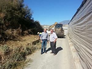 En marcha el plan de acondicionamiento, señalización y drenaje  para la mejora de los caminos rurales de El Ejido