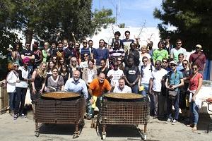 Estudiantes británicos conocen en Las Cuatro Vegas las ventajas ambientales del riego con aguas regeneradas