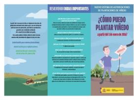 El Ministerio publica folletos informativos sobre normativa vitivinícola