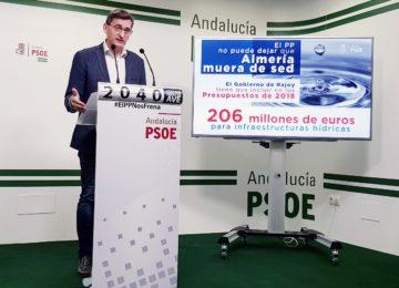 El PSOE exige al Gobierno central 206 millones de euros para infraestructuras hídricas