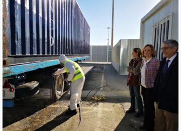El Puerto de Almería pone en servicio el Centro de Limpieza y Desinfección de Vehículos de transporte de animales vivos