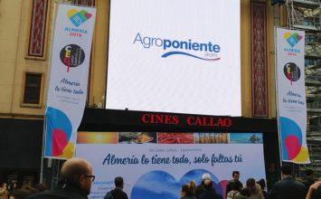 Grupo Agroponiente en la promoción de 'Almería, Capital Española de la Gastronomía' en las pantallas de Callao