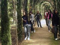 Un grupo de alumnas en el Carmen de los Mártires