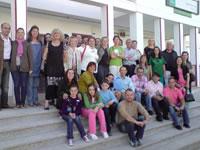 Participantes en el proyecto multilateral y autoridades
