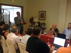 Sesión de trabajo del Director General de FP, Emilio Iguaz