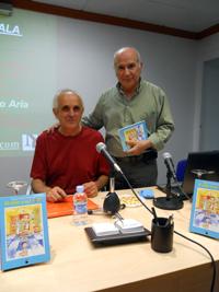 Antonio Mejías junto a su buen amigo y acuarelista Antonio Vela