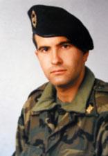 José Soto en su época de soldado en Bosnia