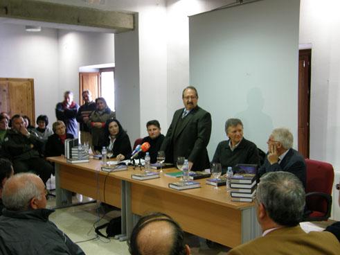 Momento de la presentación de la obra colecticva sobre el patrimonio del Marquesado de Cenete