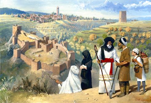Recreación del castillo de Jerez, realizada por Rocío Espín