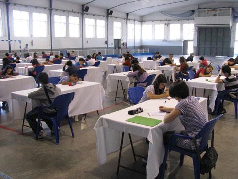 En un momento de la prueba provincial celebrada en el CEIP San Francisco
