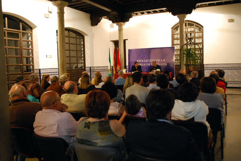 En un momento del acto celebrado en la sede de la Fundación Andaluza de la Prensa