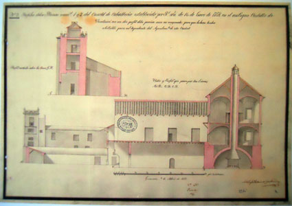 Detalle de uno de los planos de Antonio de Ugaltaridea