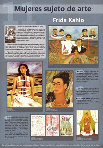 Panel dedicado a la pintora mexicana, Frida Kahlo