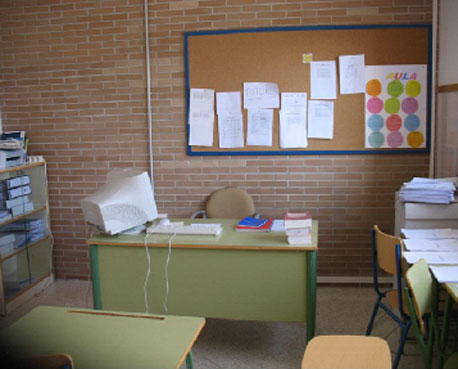 Interior del aula de convivencia