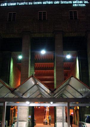 Fachada de la estación de Stuggart/ José Manuel Carvajal