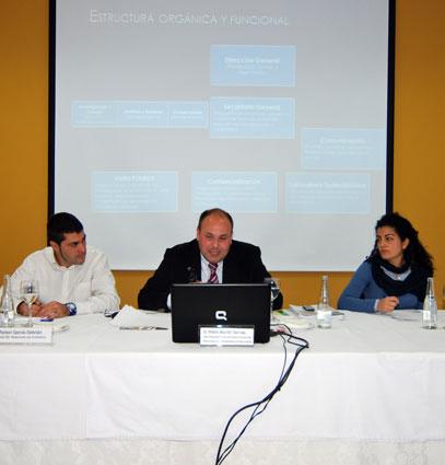 Pedro Martín Torices, en un momento de su disertación
