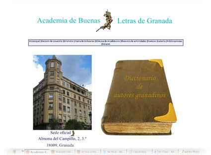 El portal web de esta institución recoge su historia, actividades y un interesante diccionario de escritores granadinos