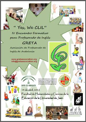 Cartel de la actividad formativa organizada por la Asociación de Profesores de Inglés, GRETA