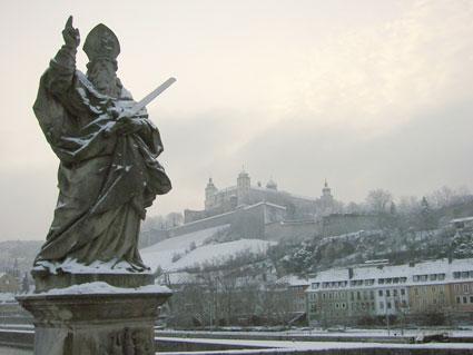 Imagen invernal de Würzburg