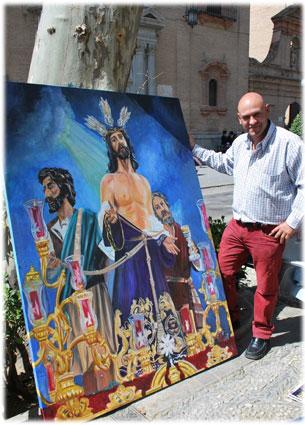 Jesús, junto a su obra prácticamente terminada