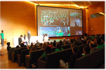 Aspecto que presentaba el auditorio del Parque de las Ciencias