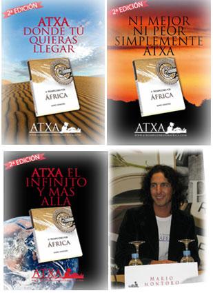 Carteles promocionales de la segunda edición y Mario en la presentación de su libro en Sala Cultural Nueva Gala