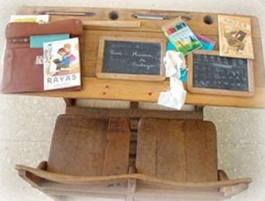 Materiales escolares de aquella época