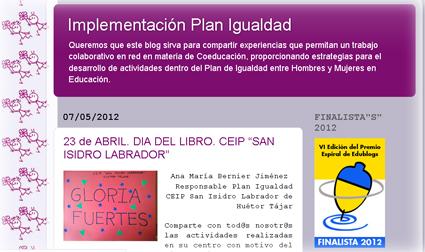 Portada del blog Implementación Plan de Igualdad