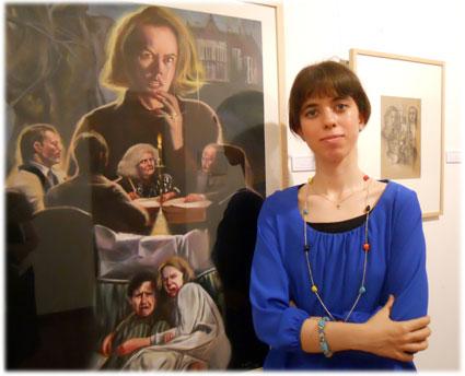 La joven artista granadina reivindica el cartel de cine como objeto de arte