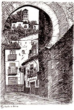 La Puerta de Elvira, plumilla de M. López Muro
