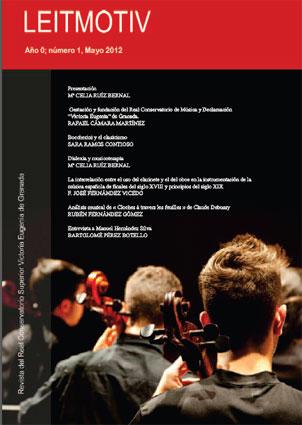 Portada del nº 1 de Leitmotiv, nueva revista del Conservatorio Superior Victoria Eugenia de Granada