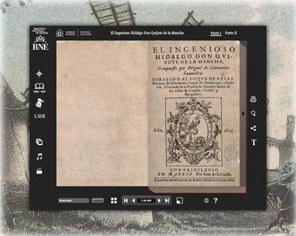 Captura de pantalla del Quijote interactivo