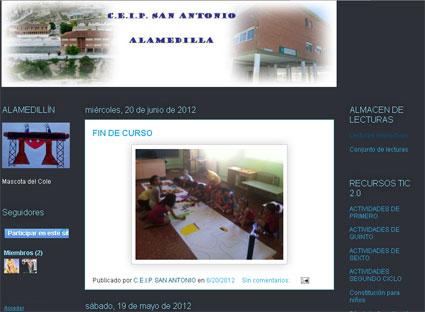 Portada del blog del CEIP San Antonio (Alamedilla)