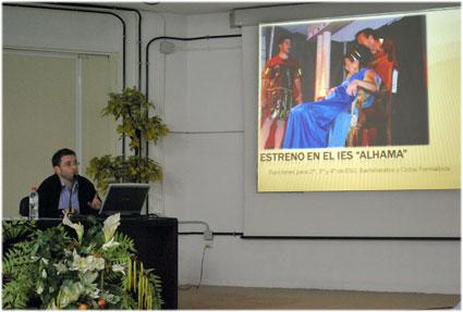 José Andrés García compartió esta experiencia en el encuentro de buenas prácticas del CEP de Granada