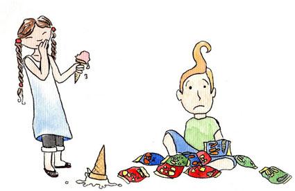 Tsotyama y su primo Arturo, según las ilustraciones de Vil