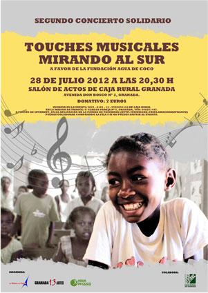 Cartel del concierto solidario en Granada
