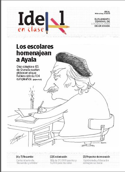 Portada del número dedicada al escritor granadino, Francisco Ayala