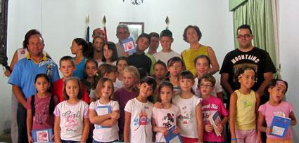 Foto del grupo de alumnos/as y participantes en este singular inicio de curso escolar