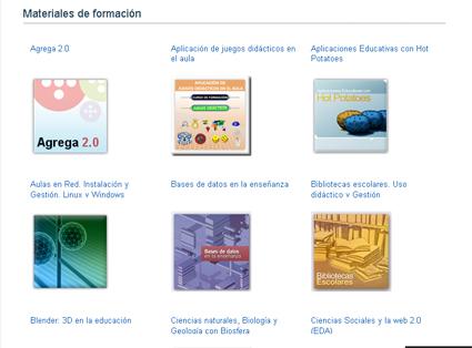 Los contenidos y materiales de estos cursos se pueden consultar en la página del MEC
