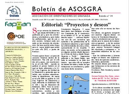 Portada del Boletín de Asosgra, nº 14