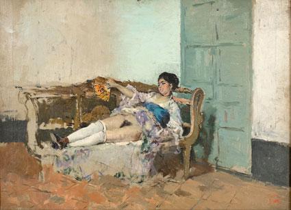 El retrato que Fortuny realizó a Carmen Bastián se expone en el Museu Nacional d'Art de Catalunya (Barcelona)