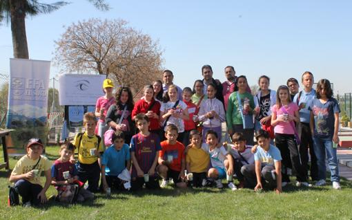 Uno de los grupos participante en la celebración del Día d ela Tierra, 2013