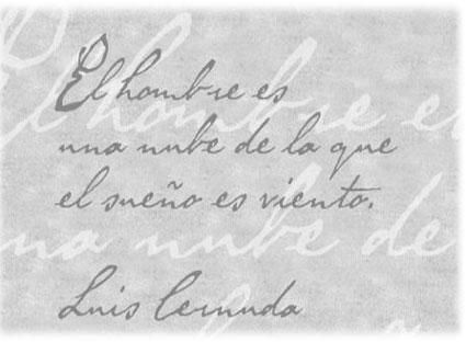 Detalle del poema de Luis Cernuda incluido en el cartel