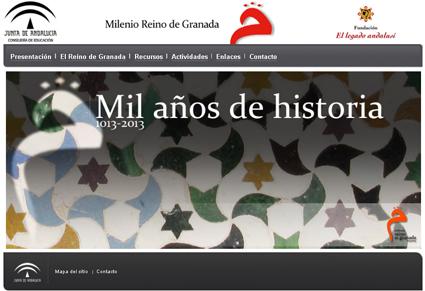 Portada de la web Milenio del Reino de Granada