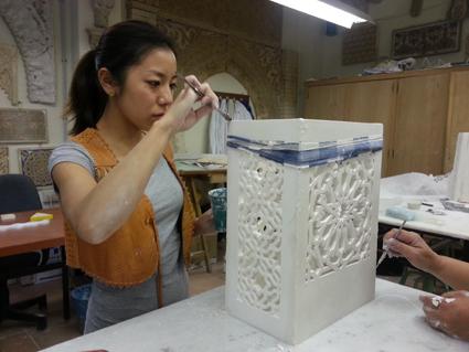 Rie Doi. Proyecto Luces y sombras en el Arte Islámico