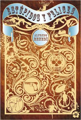 Portada de 'Estúpidos y felices' diseñada por Ángel Lalinde, el artista de STI ediciones.